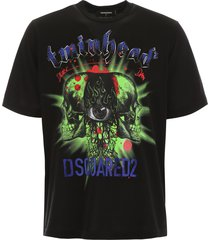 dsquared2 crystal twin head t-shirt