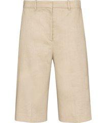 joseph long wide-leg shorts - neutrals