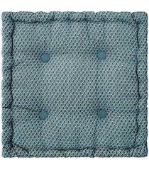 poduszka siedzisko na podłogę bali niebieskie