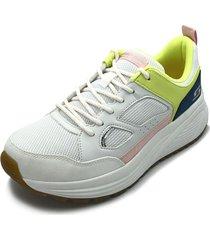 tenis lifestyle skechers bobs sparrow 2.0 retrojam - blanco-amarillo