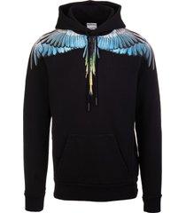 marcelo burlon man black wings hoodie