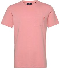 fabric dyed pocket tee t-shirts short-sleeved rosa scotch & soda