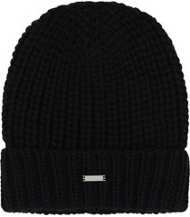les hommes black hat for boy with logo