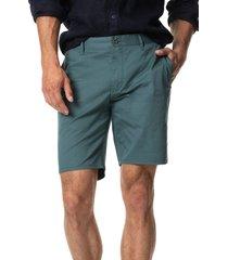men's rodd & gunn main beach stretch cotton chino shorts, size 38 - green