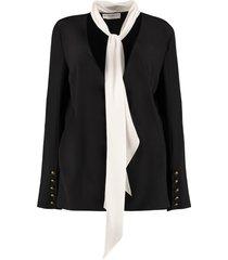 givenchy scarf collar silk blouse