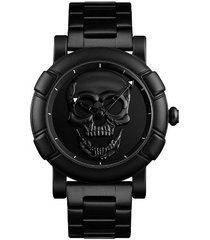 reloj hombre skmei 9178 skull black-negro