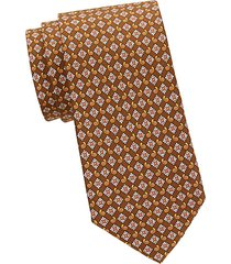 floral & paisley-print silk tie