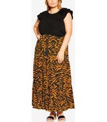 city chic trendy plus size serengeti skirt