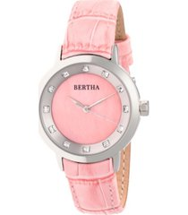 bertha quartz cecelia collection pinkleather watch 34mm