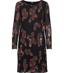 dress woven fabric korte jurk zwart taifun