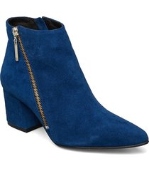 biacalais suede ankle boot shoes boots ankle boots ankle boots with heel blå bianco