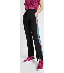 long trousers with lurex bands - black - xl