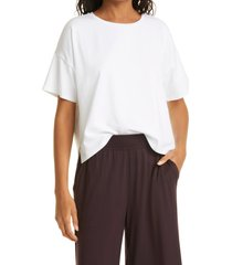 eileen fisher stretch organic cotton boxy top, size x-large in white at nordstrom