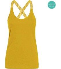 summum 3s4214-30016 235 singlet stripe organic luxury basics sun yellow
