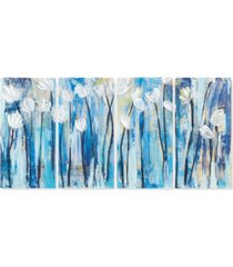 ink+ivy ocean breeze blossom 4-pc. gel-coated canvas print set