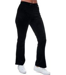 womens velour wide leg trousers