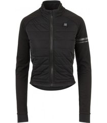 agu fietsjack women deep winter thermo essential heated black-s