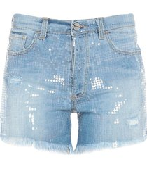 pinko uniqueness denim shorts