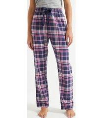 calça de pijama de flanela com estampa xadrez