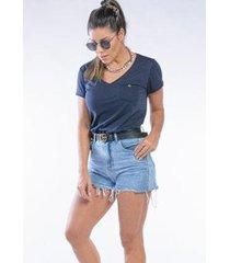 camiseta cia gota manga curta basic feminina - feminino