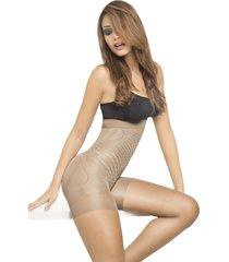 medias pantalón control de abdomen samsara para mujer – brown