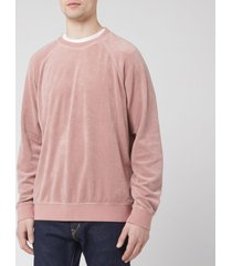edwin men's van crew sweatshirt - woodrose - xl