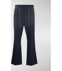 acne studios flared low-rise trousers
