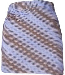 ruched mini skirt, purple brown