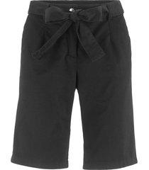 bermuda con cintura da annodare (nero) - bpc bonprix collection