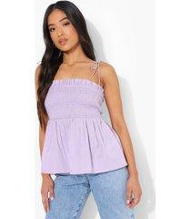 petite geplooid hemdje met schouderstrikjes, lilac