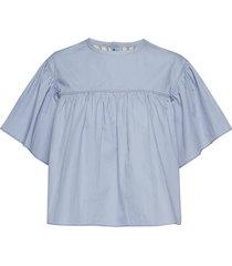 blouse blouses short-sleeved blauw noa noa