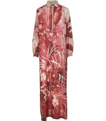 for restless sleepers red liriope long dress