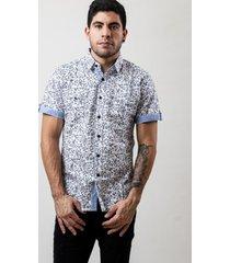 camisa de dos bolsillos manga corta classic design blanca 609 seisceronueve