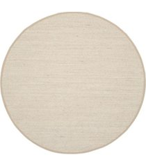 safavieh natural fiber maize and linen 4' x 4' sisal weave round area rug