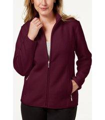 karen scott fleece jacket, created for macy's