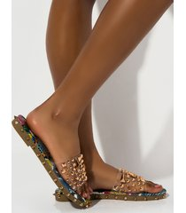 akira cape robbin cantalo studded pvc sandal