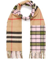 giant check cashmere-wool blend scarf