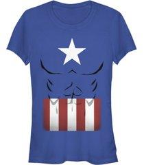 fifth sun marvel women's captain america simple suit short sleeve tee shirt