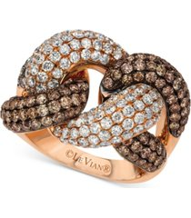 le vian red carpet diamond knot ring (3-1/2 ct. t.w.) in 14k rose gold
