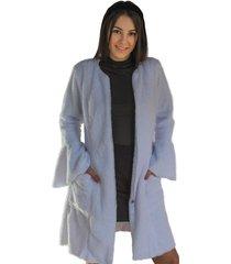 casaco dona popi sobretudo branco