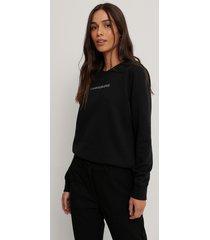 calvin klein sweatshirt med rund halsringning - black