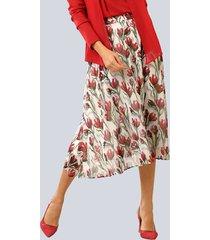 kjol alba moda vit::röd