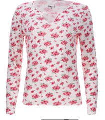 camiseta mujer flores rosa color naranja, talla 10