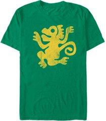fifth sun men's nickelodeon legends of the hidden temple distressed monkey short sleeve t-shirt