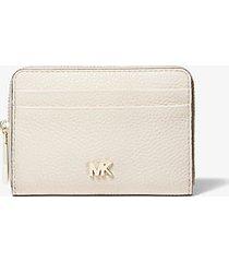 mk portafoglio piccolo in pelle martellata - crema chiaro (naturale) - michael kors