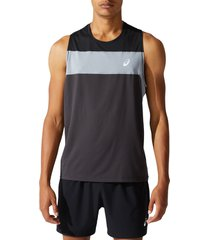 asics(r) racing tank, size xx-large in graphite at nordstrom
