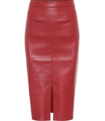 carmen leather midi skirt