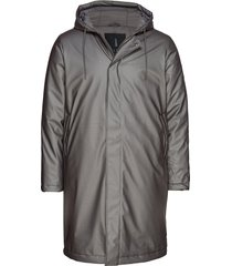 padded coat parka jas grijs rains