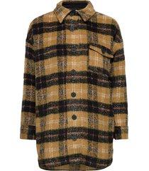 dhmellie long jacket ulljacka jacka multi/mönstrad denim hunter