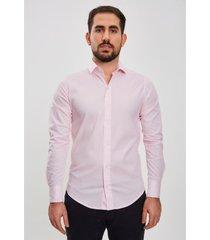 camisa rosa el genovés elastizada